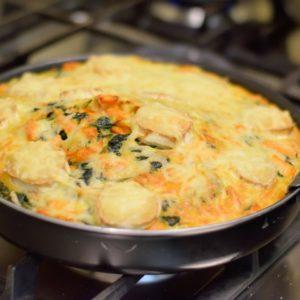 Clafoutis met pompoen en groenten